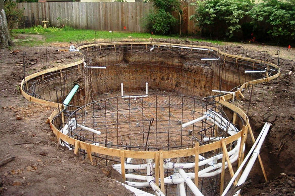Plumbing aztech pool plastering for Pool construction
